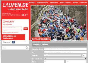 DLV Laufkalender auf Laufen.de