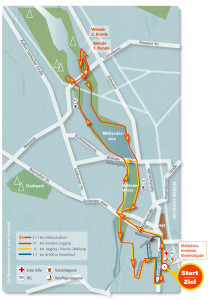 Streckenplan Stadtlauf Nürnberg 2013