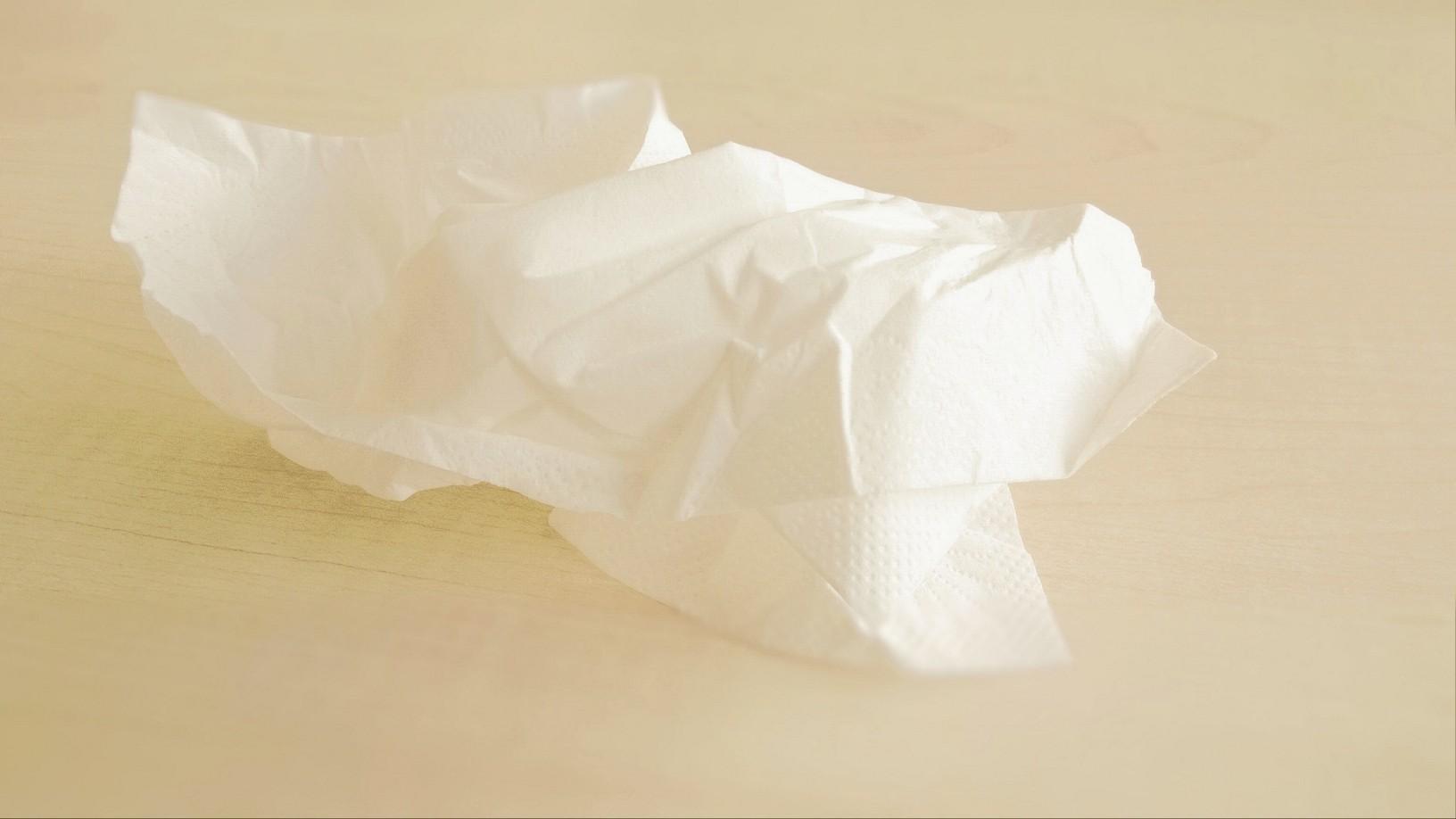 Erkältung Taschentuch