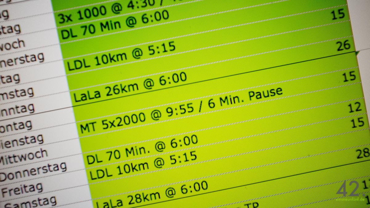 Marathon Planung