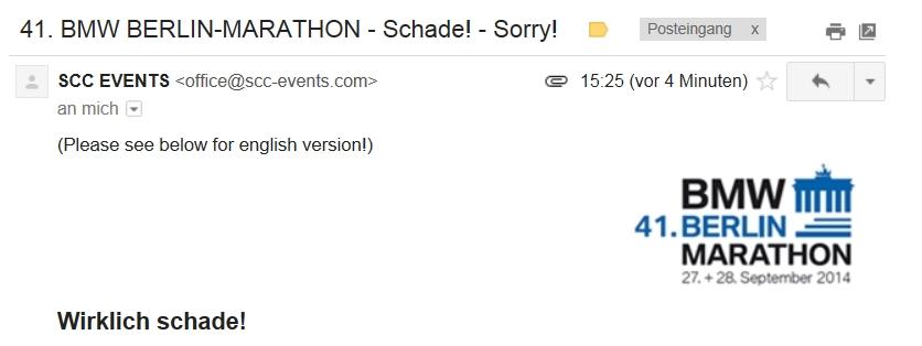 Berlin Marathon Wirklich Schade Absage