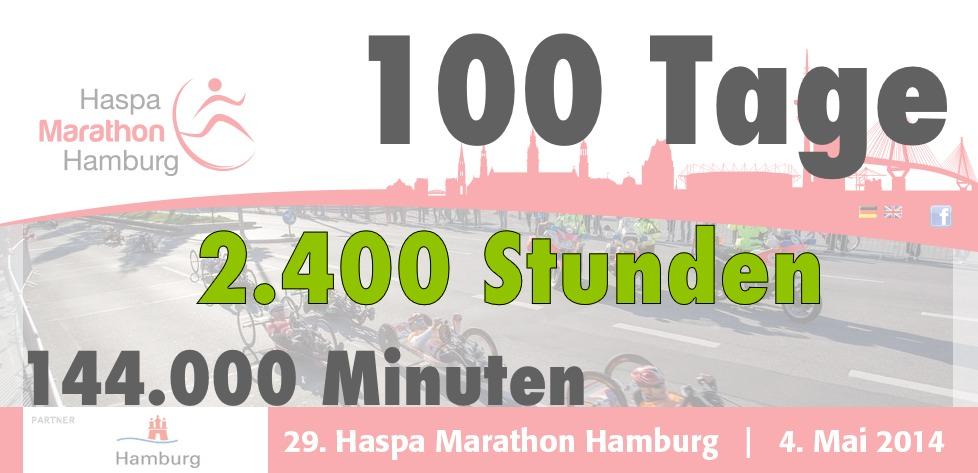 Hamburg Haspa Marathon 100 Tage Banner