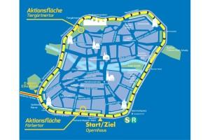 Streckenplan, Altstadtrennen, Jedermannrennen, Nürnberg