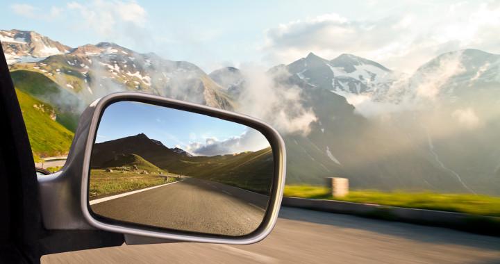 Rückblick, Monatsrückblick, Rückschau, Rückspiegel, Landschaft, Berge,