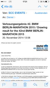 Berlin Marathon Verlosungsergebnis