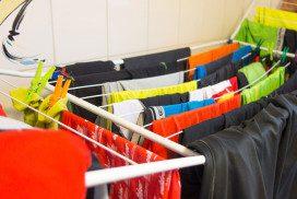 Wäscheständer, Wäscheleine, Sportklamotten waschen, trocknen