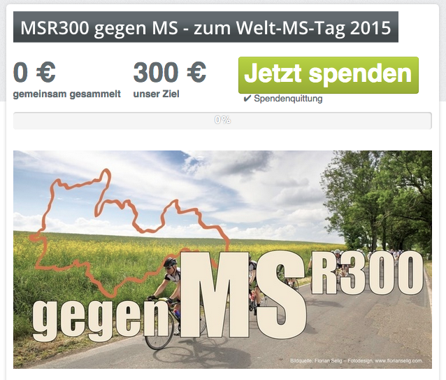 MSR300, Fundraising, Hippotherphie, Multiple Sklerose,  Betterplace