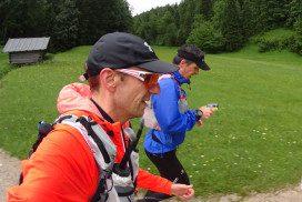 am Ferchensee im Einsatz - die #allebekloppt-Trailrunning-Crew