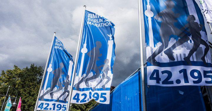 Berlin Marathon Start Fahnen
