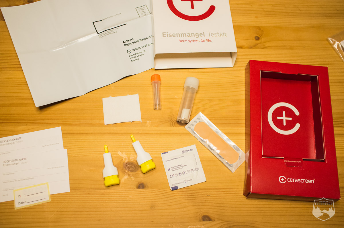 Inhalt, Blut, Lanzette, Verpackung, Röhrchen, Aufkleber, Umschlag, Anleitung