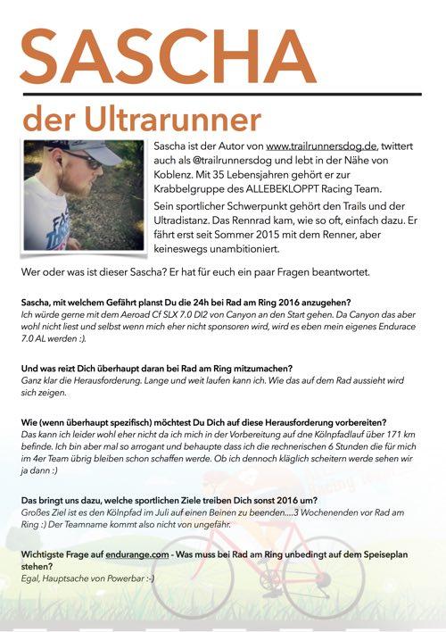 Sascha - Rad am Ring 2016 - Preview, @trailrunnersdog, Rennrad, RaR2016, 24h Rennen, Ausdauersport, Ultrarunner, #Cleanyourtrials