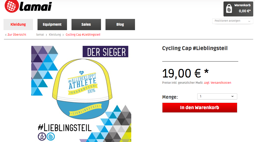 Lamai, Webshop. Cycling Kit, Rhombus, Cycling Cap, Coffee & Chainrings, Lieblingsteil 2016
