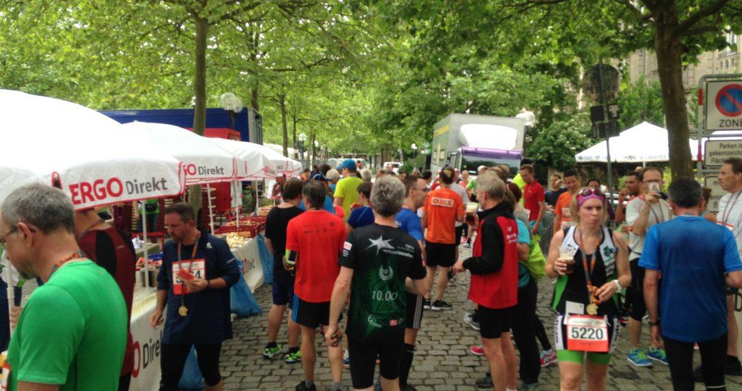 Metropolmarathon, Fürth, Twitterlauftreff, Prosecco, Zielverpflegung