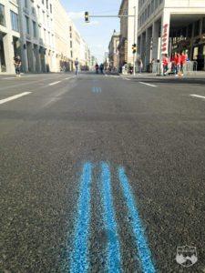 Berlin Marathon, blaue Linie, Potsdamer Platz