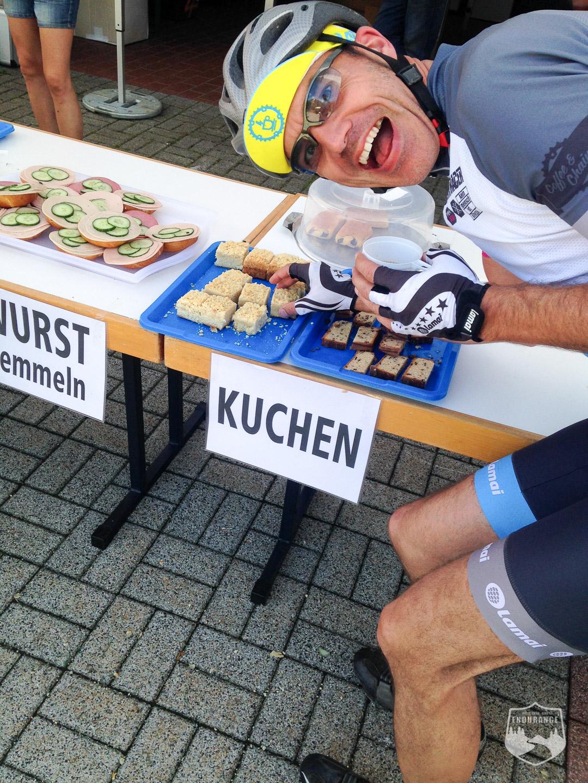 FRM, Frankenwald Radmarathon, Stockheim, Twitterbiketreff, FRM16, Carlsgrün, Verpflegung, Kuchen